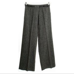 ANTHROPOLOGIE Gray Wool / Silk Blend Trousers